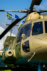 Military heavy helicopter with rotor