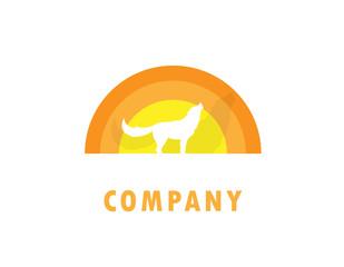 wolf sunset logo