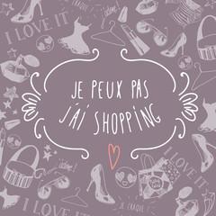 French shopping background
