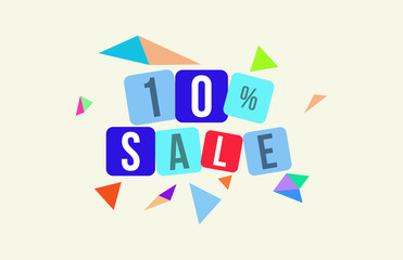 10 Percent SALE Discount Price Offer Sign