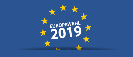 Europawahl 2019 - Vektor Illustration