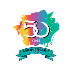 Fiftieth anniversary logo