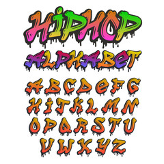 Graffity alphabet vector hand drawn grunge font paint symbol design ink style texture typeset