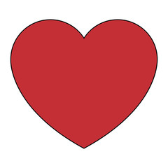Heart life symbol videogame element cartoon vector illustration graphic design