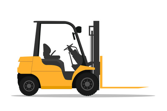 Stock forklift with fork extensions