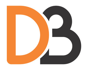 DB initial typography typeface typeset logotype alphabet image vector icon