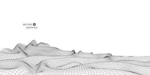 3d vector landscape