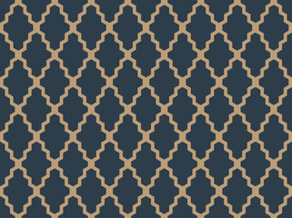 Seamless tan blue and brown moroccan geometric african pattern vector