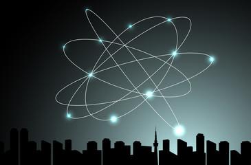 ネットワーク 都市背景