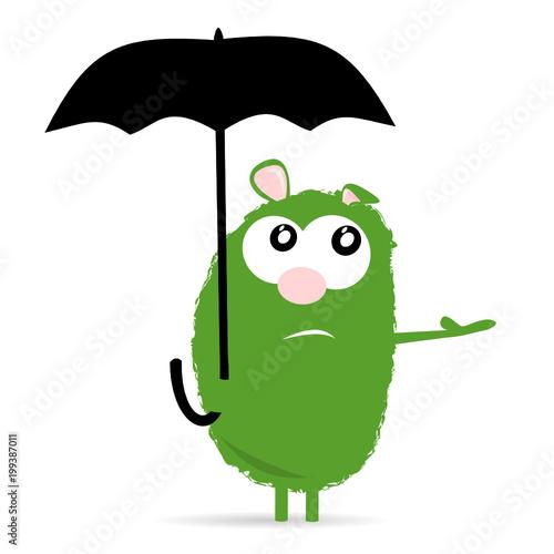 grusel Bär mit Schirm\