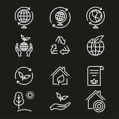 Ecology - vector icon.