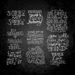 Hand written calligraphy quotes motivation for life and happiness. For postcard, poster, prints, cards graphic design.