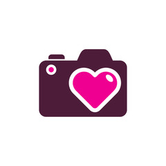 Love Camera Logo Icon Design