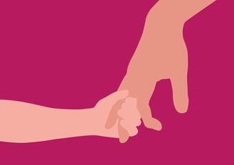 main - enfant - adulte - symbole - parent - amour - éducation - confiance - fond - père - donner la main