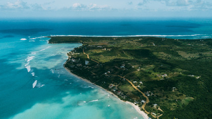 Island Saona. Sky view
