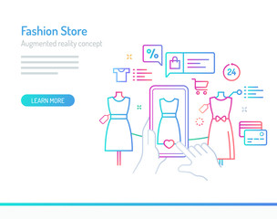 Augmented Reality Concept - Fashion Store