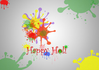illustration of abstract colorful Indian Festivel Happy Holi background