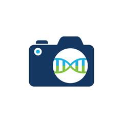 Dna Camera Logo Icon Design