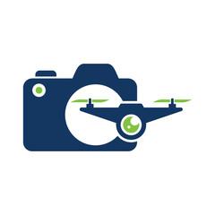 Drone Camera Logo Icon Design