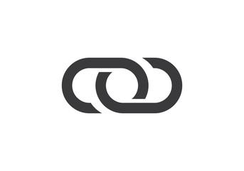 abstract unity vector logo design