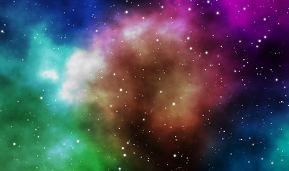 Space scape galaxy design background