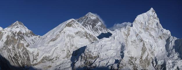 Everest and Nuptse summits from Kala Patthar peak