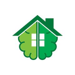 Brain House Logo Icon Design