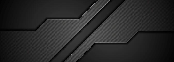 Abstract black concept tech banner design