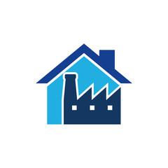 Factory House Logo Icon Design