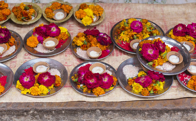 Flower petals for Puja ceremony