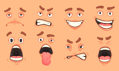 Cartoon Men Mouth Set
