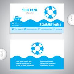 business card - Lifebuoy symbol - marine Equipment - company presentations