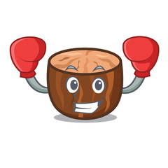 Boxing nutmeg character cartoon style