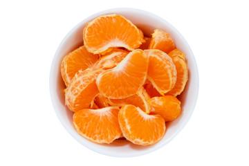 Mandarinen Früchte von oben isoliert freigestellt Freisteller