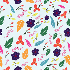 Beautiful Seamless Floral pattern design
