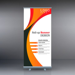 Roll up banner business template