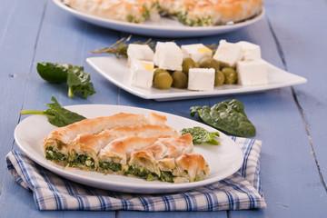 Greek spinach pie.