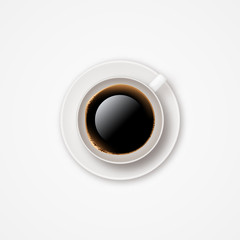 Realistic vector coffee cup