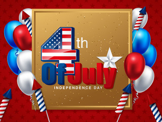 American Independence Day. Festive vector illustration EPS 10