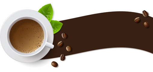 Banner with a Cup of Coffee