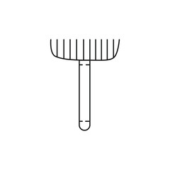 Gardening icon in outline style. Vector illustration