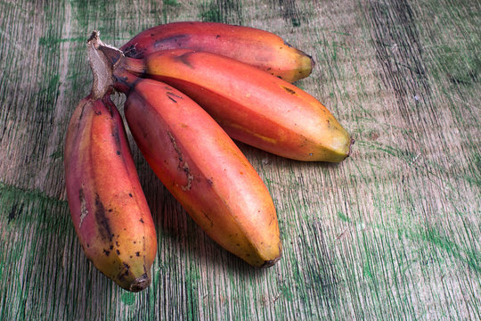 red banana variety in South America