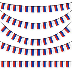 garlands with russian national colors