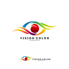Eye logo designs vector, Colorful Eye logo template