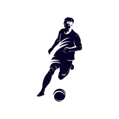 Dribbling ball logo, Soccer and Football Player logo designs