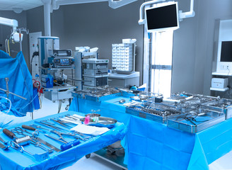 Interior hospital operation room