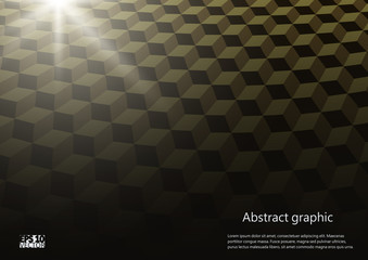 Abstract perspective background with cubes. Graphic illustration with geometric pattern. Eps10 Vector illustration.