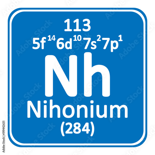 Periodic table element nihoniu...