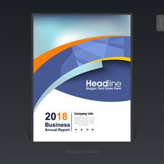 Geometric colorful business brochure, cover design, flyer - Vector Illustration