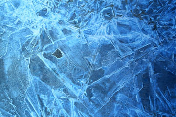 Photo background frozen ice